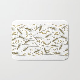 Art Nouveau - Scattered Wheat Bath Mat