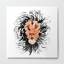 King Lion Metal Print