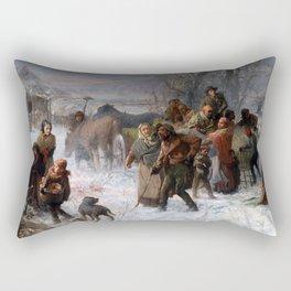 Charles T. Webber The Underground Railroad Rectangular Pillow