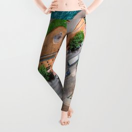 View From The Top    (digital painting) Leggings