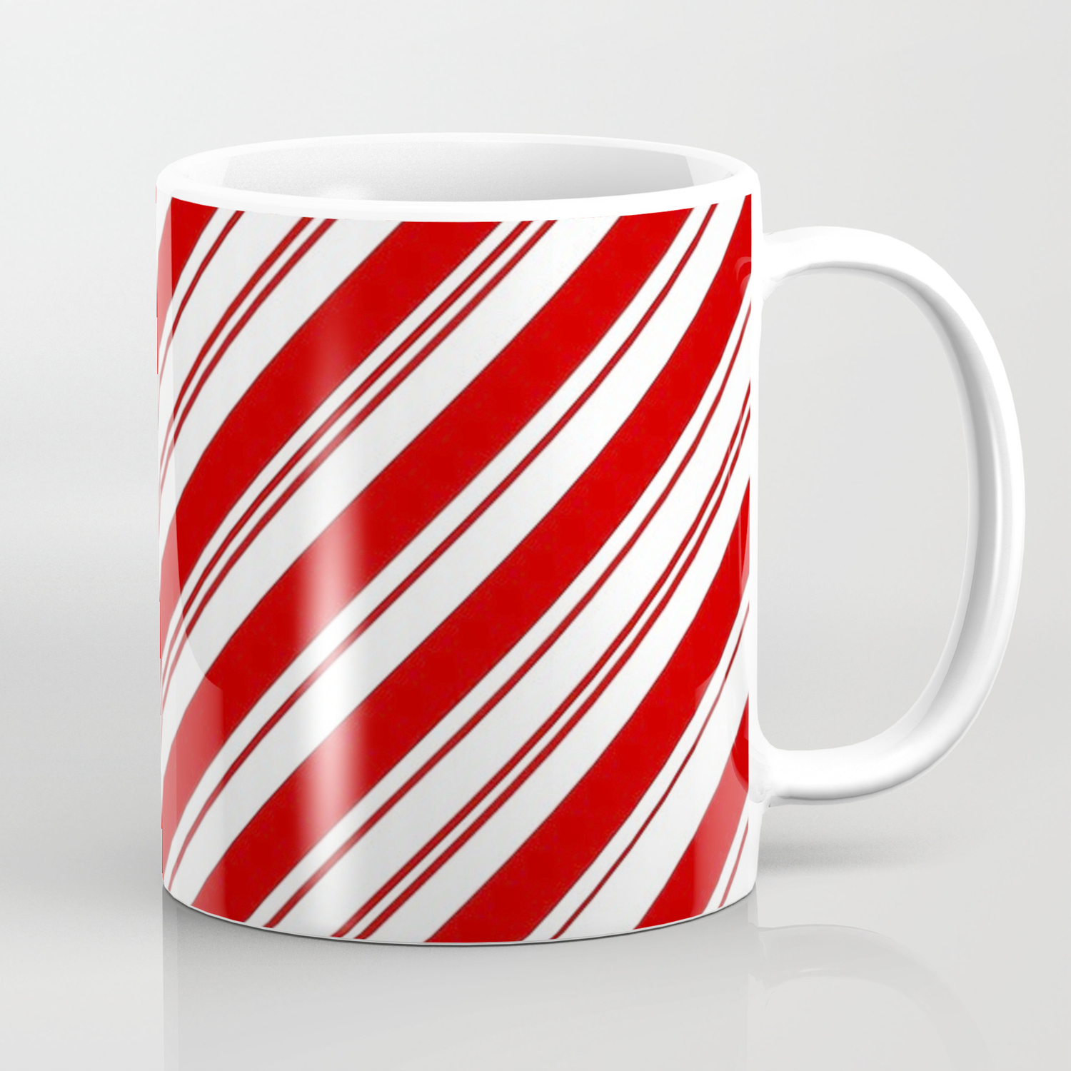 Winter Holiday Xmas Red White Striped Peppermint Candy Cane Coffee Mug By Chicelegantboutique Society6