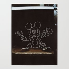 Micky Mouse Smoking Poster