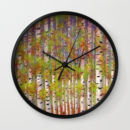 Dressed in Fall Colors Wall Clock