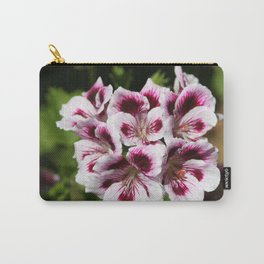 Purple Geraniums Flowers Carry-All Pouch
