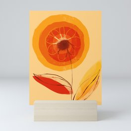 Sunshine California happy poppy bright flower holiday sunshine Mini Art Print