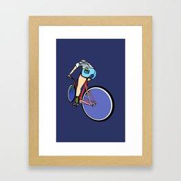 Fixie Cyclist Framed Art Print