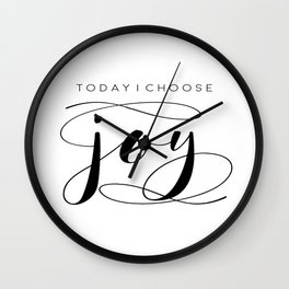 Today I Choose Joy wood sign, farmhouse decor, rustic, vintage, Bible verse, home and living Wall Clock