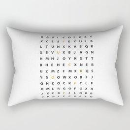 Wanna Hear A Secret Rectangular Pillow