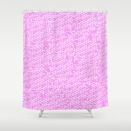 Microchip Pattern (Pink) Shower Curtain