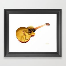 The guitar is a lady Framed Art Print