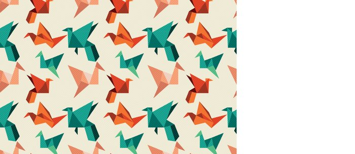 teal paper cranes Coffee Mug