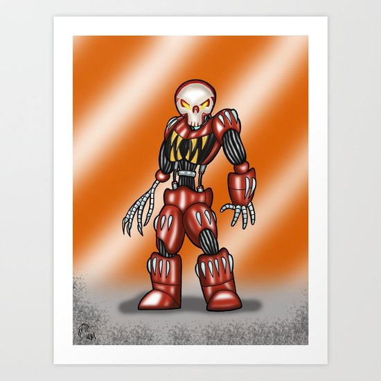 Robot Series - Outlaw Model Art Print