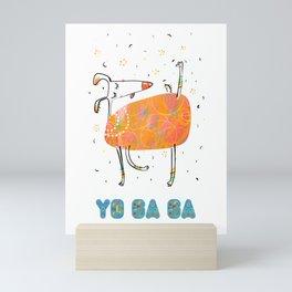 Yoga Dog - Joy Mini Art Print