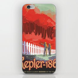 Kepler-186 : NASA Retro Solar System Travel Posters iPhone Skin