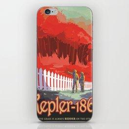 Kepler-186 : NASA Retro Solar System Travel Posters iPhone Skin