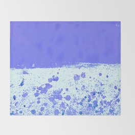 Ink Drop Blue Throw Blanket