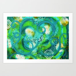 Swirly Roads Art Print