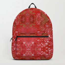 Red and gold fluid art Backpack