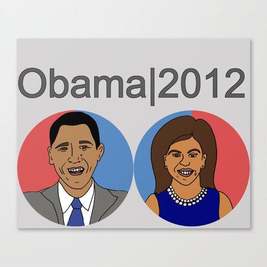 Obama, 2012 Canvas Print