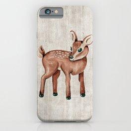 Little Fawn, Baby Deer, Forest Animals, Woodland Nursery, Baby Animals iPhone Case
