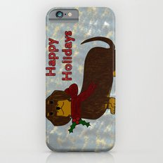 Happy Holidays Dachshund iPhone 6s Slim Case