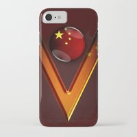 china iPhone & iPod Cases featuring China by ilustrarte