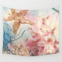 angelina jolie Wall Tapestries featuring Jolie Etoile de Mer by De De Moseley