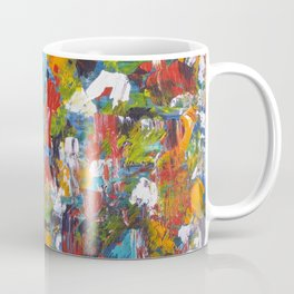 """""""The Abstract Mediterranean"""" Acrylic Painting by Noora Elkoussy Coffee Mug"""