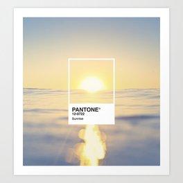 PANTONE SERIES – SUNRISE Art Print