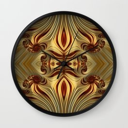 Milk Chocolate Swirls Wall Clock