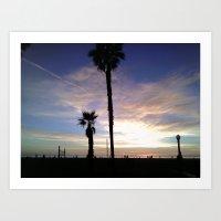 Venice Sunset #2 Art Print