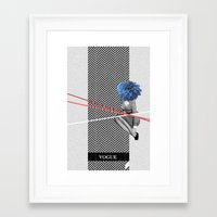 vogue Framed Art Prints featuring Vogue by Frank Moth