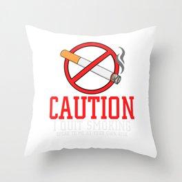 Quit Smoking Gift Stop Smoke Free Throw Pillow