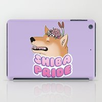 shiba inu iPad Cases featuring Shiba Pride by Cheesey