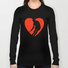 HOCKEY DISTRESSED DESIGN Long Sleeve T-shirt