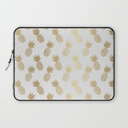 Gold Pineapple Pattern Laptop Sleeve