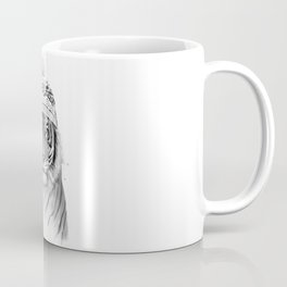 Siberian tiger (b&w) Coffee Mug