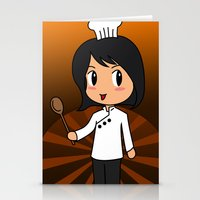 chef Stationery Cards featuring Chef by Flying Cat Artwork