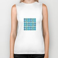 evil eye Biker Tanks featuring Evil Eye Squares by Katayoon Photography