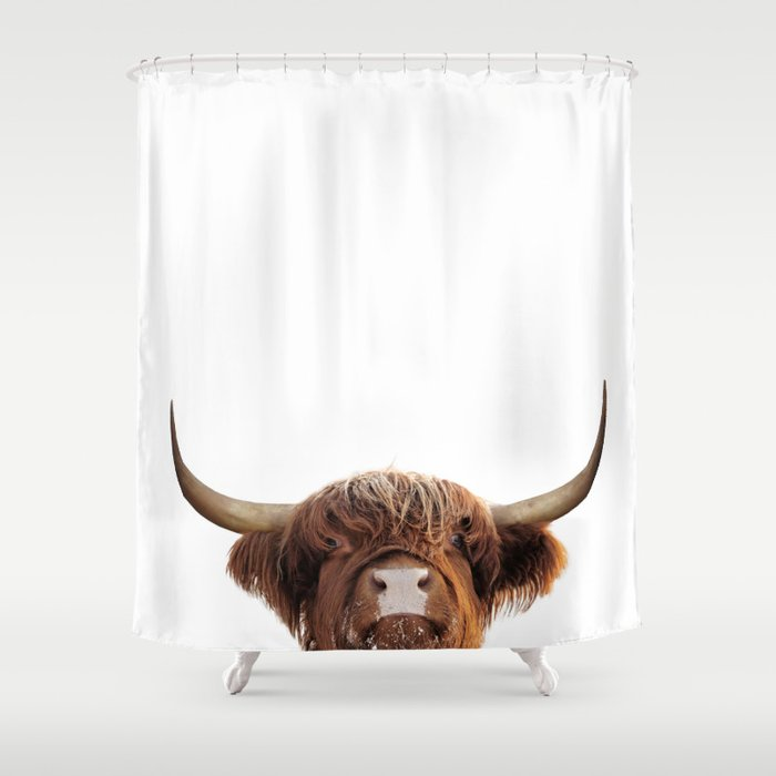 Highland Cow Brown Shower Curtain By Prints Miuus Studio