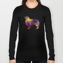 Australian Shepherd 01 in watercolor Long Sleeve T-shirt
