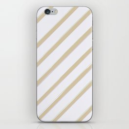 Diagonal golden stripes iPhone Skin