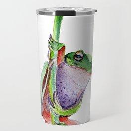 frog on a dandelion Travel Mug