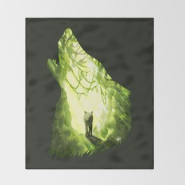Wolf's Forest Throw Blanket
