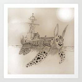 Shell Back Art Print