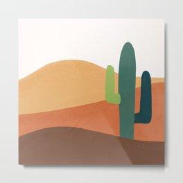 Cactus in desert  Metal Print
