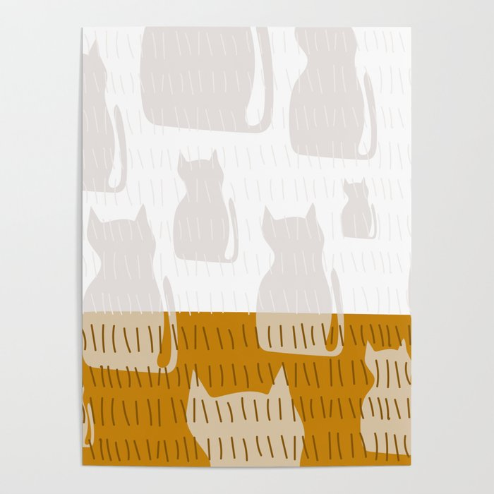Coit Cat Pattern 4 Poster