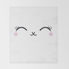 Cute eyes Throw Blanket