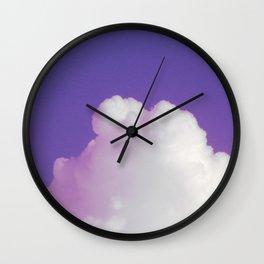 Big Fluffy Cloud Against a Purple Sky, Beautiful Cloud and Beautiful Sky Wall Clock