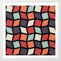 Squares and Diamonds 4 Art Print
